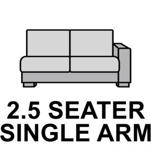 2.5 Seater – Single Arm