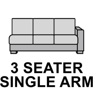 3 Seater – Single Arm