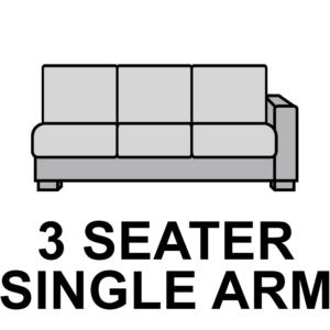 3 Seater – Single Arm