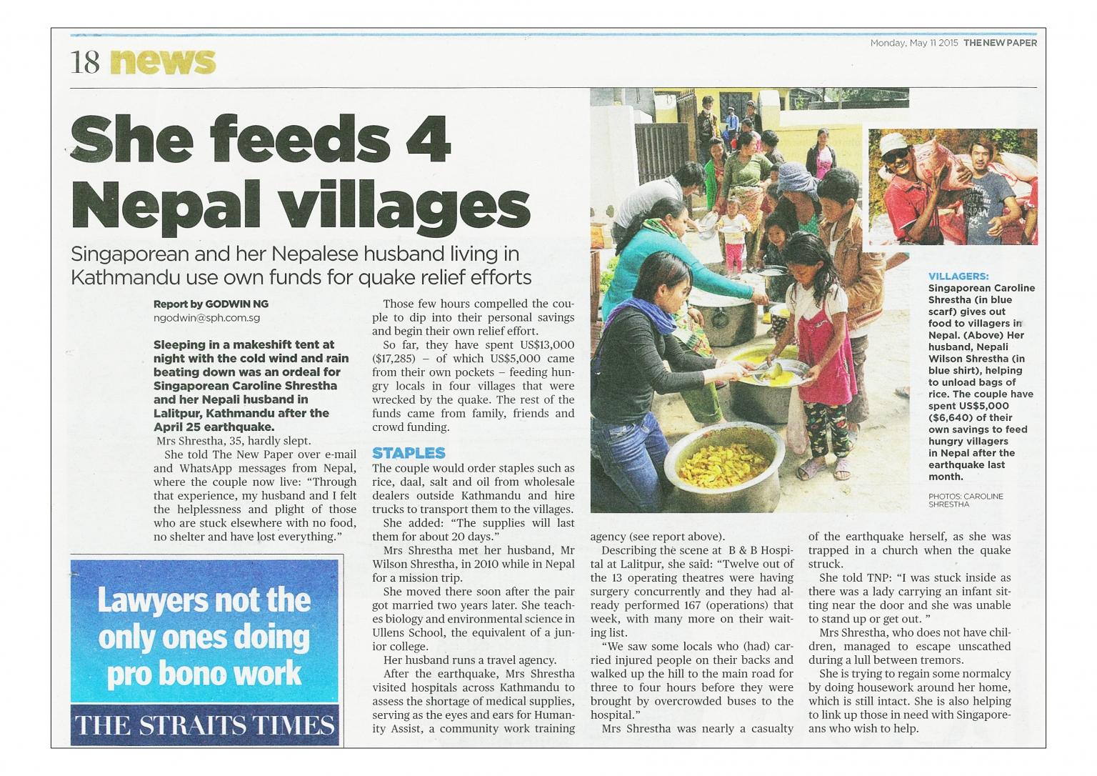 Danovel aid Nepal earthquake